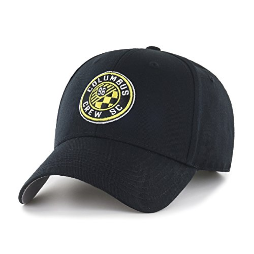 OTS MLS  Columbus Crew  All-Star MVP Adjustable Hat, Black, One Size