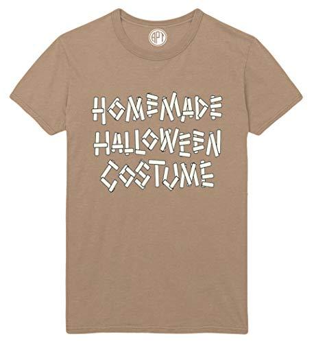 Homemade Halloween Costume Printed T-Shirt - Sand - -