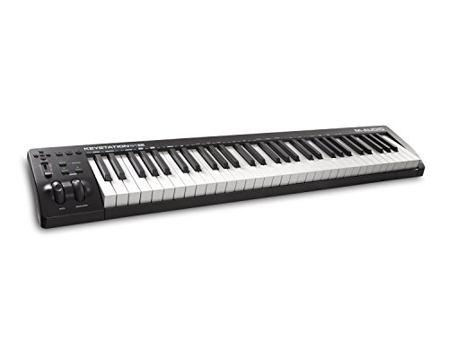 M-Audio Keystation 61MK3 | Compact Semi-Weighted 61-Key USB-Powered MIDI Keyboard Controller