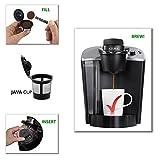 Reusable K-cup Filter for Keurig K-Select, K-Elite, K-Classic, K-Latte, K-Compact, B40, B41, B45, B50, B55, B60, B65, B66, B70, B71, B75, B76, B77, B79-4 Pack by Brewslang