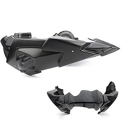 Noir Ensemble de ch/âssis de corps en plastique ABS pour moteur de ventre de moteur de moto Bellypan Belly Pan pour 2014-2018 Yamaha FZ-07 MT-07 FZ07 MT07 FZ MT 07 2015 2015 2017 2017 14-18