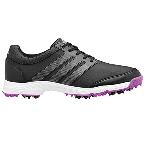 adidas Women's W Response Light Golf Shoe, Core Black/Iron Metallic/Flash Pink, 7.5 M US