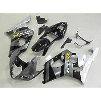 Silver w/Black Fairing Bodywork Injection for 2003-2004 Suzuki GSXR GSX-R 1000