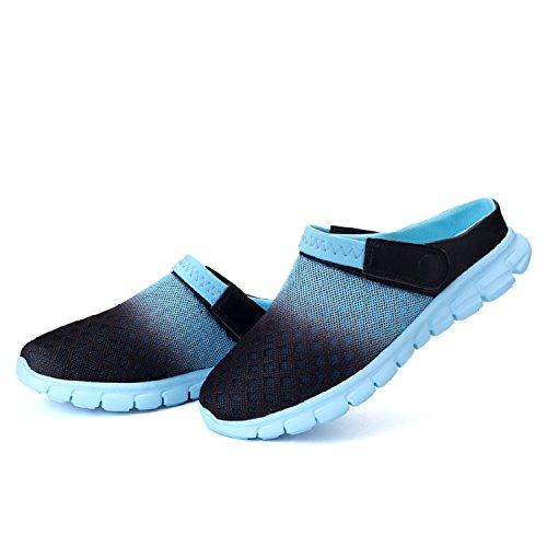 Zapatillas Unisex Zuecos Tqgold Sandalias Chanclas De Respirable Mujeres Azul Hombres Playa Rd0xqXrR