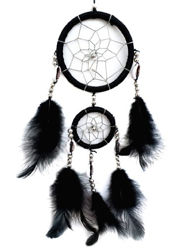 Betterdecor Handmade Dream Catcher with Feathers Hanging Deor Ornament (Gift Bag)-2CBL