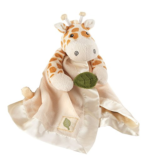 A Baby Giraffe Rattle - Baby Aspen, Jakka the Giraffe Little Expeditions Plush Rattle Lovie with Crinkle Leaf, Brown, 0-24 Months