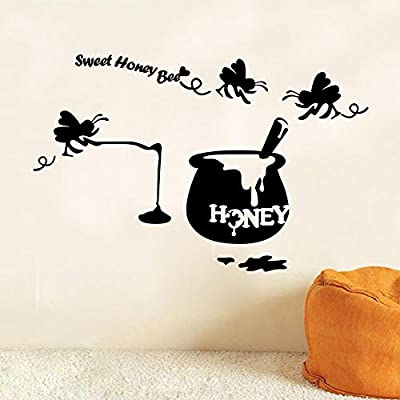 Etiqueta de la pared dulce miel de abeja tatuajes de pared ...