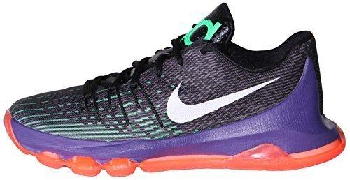 Nike Youth Boys KD 8 Basketball Shoes-Black/Green Shock/Hyper Orange-7