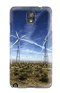 Shock-dirt Proof Windmills In The Desert Case Cover For Galaxy Note 3