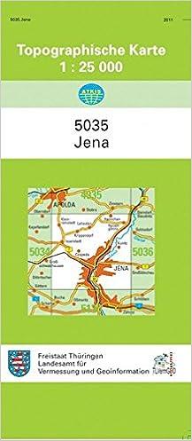 Topographische Karte Thüringen.Jena 5035 Topographische Karten 1 25000 Tk 25 Thüringen Amtlich