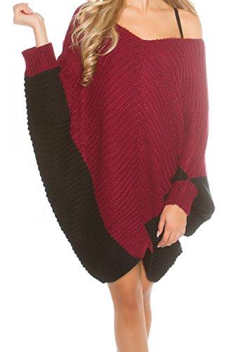 pull poncho gilet cardigan long bordeaux noir nouvelle collection
