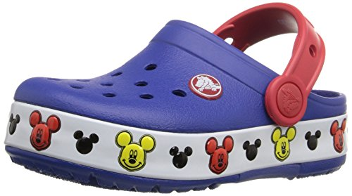 Crocs Kids' Light-Up Mickey Mouse Clog, Cerulean Blue, 10...