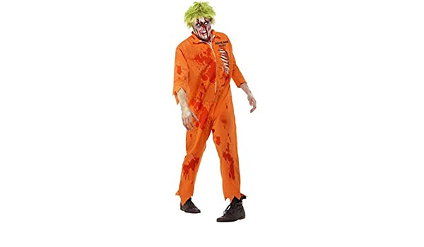 NET TOYS Traje de preso Zombie Vestuario Disfraz psicópata Horror ...