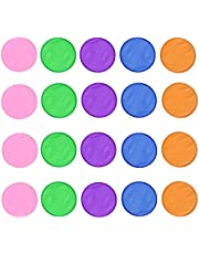 Minelife 20 Pieces Flying Disc/Fan Foldable Frisbees, Folding Pocket Toy Set Frisbees for Kids Fun Birthday Party Favors Summer Outdoor Activity Game, 5 Colors