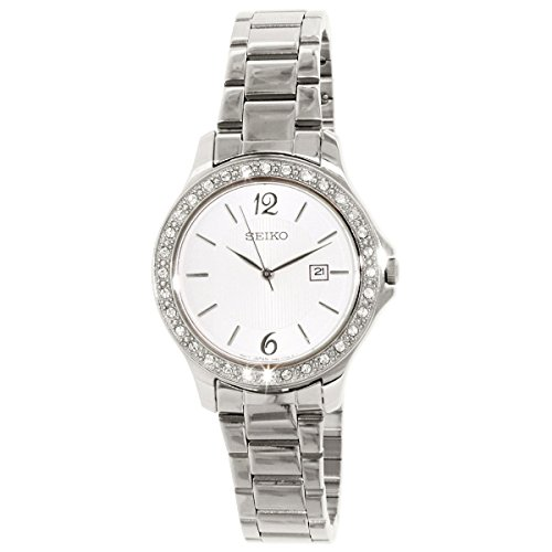 Seiko SXDF97 Lady's Dress Steel Bracelet White Dial Watch
