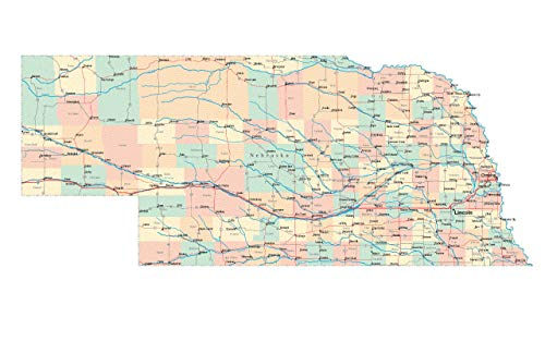 - Home Comforts Laminated Poster Nebraska State Road Map City County Lincoln Ne Vivid Imagery Poster Print 24 x 36