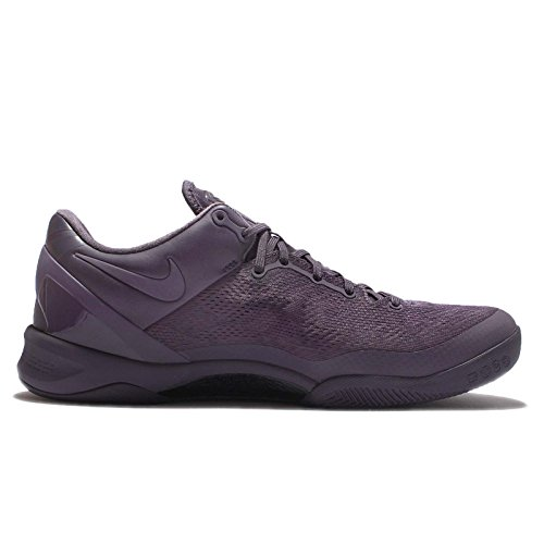 Nike Mens Kobe Viii Ftb, Vervagen Tot Zwart-donkere Rozijn / Donkere Rozijn, 10,5 M Ons
