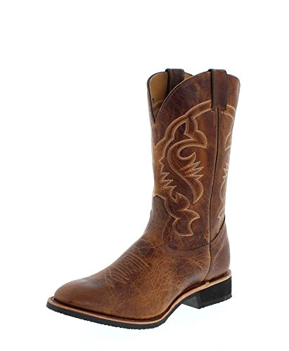 Boulet 2164 Eee Grizzly Sand / Mens Western Stivali Da Equitazione Brown Sand (wide Eee)
