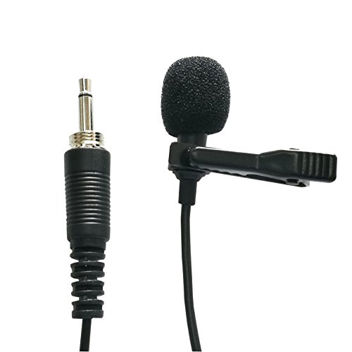 Transmitter Clip Tie Microphone - Samje Lavalier Lapel Microphone - Cardioid Condenser Tie Clip on Mic for Various Wireless Transmitter Bodypack (3.5mm Mono Threaded Plug)