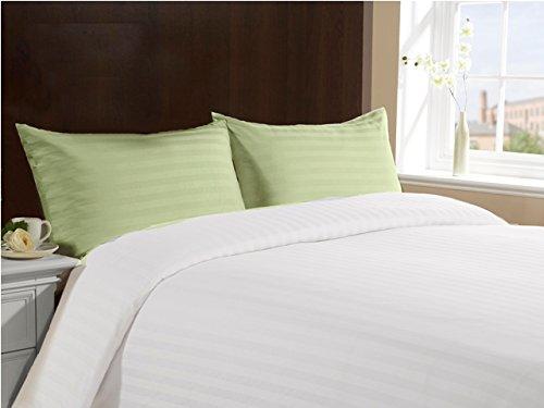 Lasin Bedding 100% Cotton Hotel Collection Envelope Closure Pillow Cases Stripe (Set of 2) - Queen 20