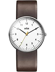 Braun Mens BN0021WHBRG Classic Analog Display Japanese Quartz Brown Watch