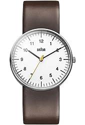 Braun Men's BN0021WHBRG Classic Analog Display Japanese Quartz Brown Watch
