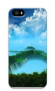 TYH - iPhone 5 5S Case Beautiful 1 Waterfall 3D Custom iPhone 5 5S Case Cover phone case