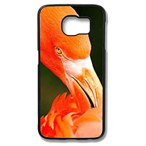 Samsung Galaxy S6 Edge Case - Flamingos Eat Slim Bumper Case with Soft Flexible TPU Material for Samsung Galaxy S6 Edge Black