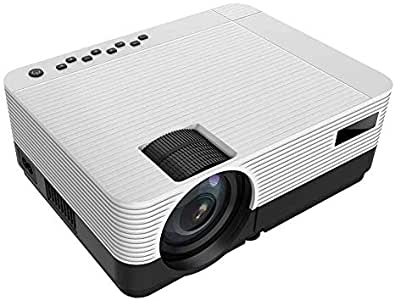 """720P 5000 Lumen Projector, 200 """"HiFi Speaker Video Projector, 2 HDMI Ports, Compact Design for iOS / Android TV Stick Home Cinema Gift"""
