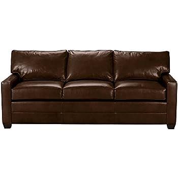 Amazon.com: Ethan Allen Arcata Leather Sofa, 62\