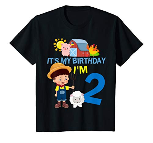 - Kids Farm Animals 2 Year Old It's My 2nd Birthday Party T-Shirt