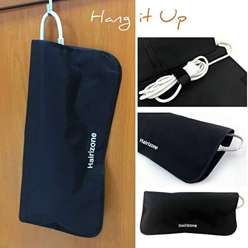 Bolsa para alisador de cabellos de Hairizone; resistente al calor, con funda de viaje y soporte de cable, bastoncillos, pinzas y hermoso color negro