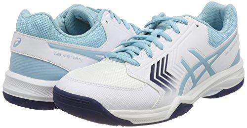 blanc Asics Gel Indigo Pour De dedicate Chaussures Tennis Bleu Porcelaine Multicolore Femme 5 nUpFgx