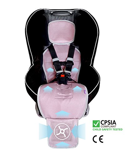Amazon Soonsi Baby Car Seat Cooling Pad Liner With Fan Pink Front Facing Only