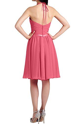 Cocktail Neck Wassermelone Ivydressing Kurz Falte Dunkelblau Neckholder Suess 2017 Promkleider Abendkleider Chiffon V Partykleider Neu ZrqgxPXrA