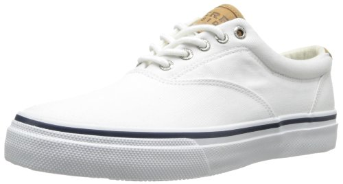 Sperry Top-sider Mens Striper Ll Cvo Fashion Sneaker Twill Bianco Lavato Al Sale