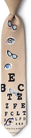 Optometrist Tan/taupe Polyester Tie