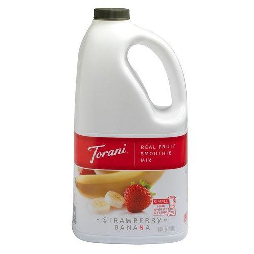Torani Real Fruit Smoothie Strawberry Banana Mix 64 oz by Torani