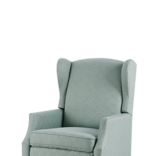 Vander Push Back Recliner Blue See (Reclining Wingback Chair)