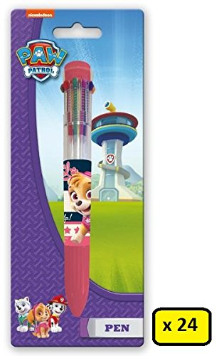 Box 24 Pens 10 Colours Multicoloured School Gifts Party (Paw Patrol)
