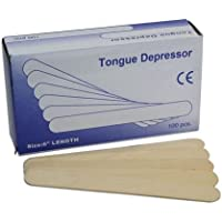 Depresor de lengua médica de madera, 15,24 cm