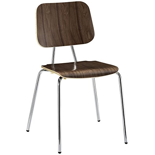 Modern Contemporary Wood Dining Side Chair Walnut by America Luxury - Chairs
