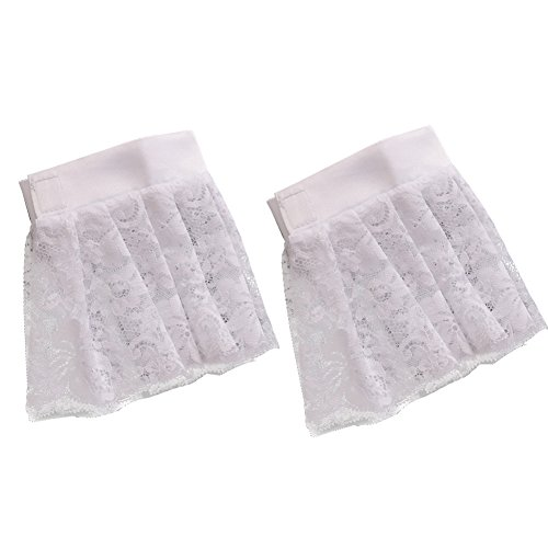 BLESSUME White Colonial Lace Jabot Cuffs Set Costume Accessory (Big White Colonial ()