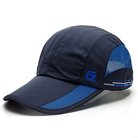 GADIEMENSS Quick Dry Sports Hat Lightweight Breathable Soft Outdoor Running Cap (Classic UP, Navy) - Cotton Tennis Hat