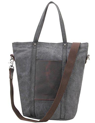 Menschwear Vintage - Sacs de toile messenger - Casual - Harnais à l'épaule - Sac de journée blanc - Gris