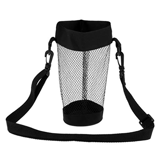 Prettyia 30oz Water Bottle Cup Mesh Carrier Bag Oxford Cloth Cover Bag with - Holder Bottle Mesh