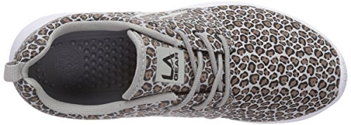 L.A. Gear Sunrise Damen Sneakers Grau (Grey-Taupe Leopard 02)