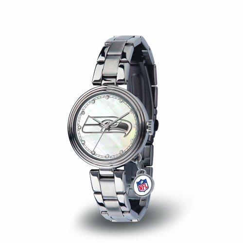 Charm Seattle Seahawks Silver - NFL Seattle Seahawks Charm Watch, Silver