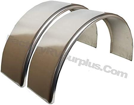 ToughGrade 2-Pack Aluminum Smooth Round Top Trailer Fender 9 X 34 X 17