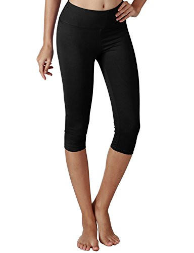 Price comparison product image Yogareflex Women's Tummy Control Active Tights Yoga Running Leggings Capris , Black , XXX-Large